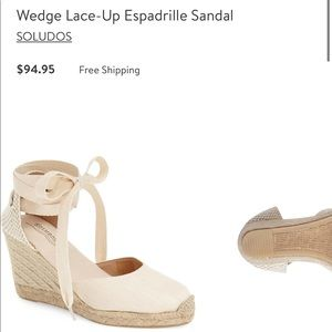 Soludos Lace Up Wedges